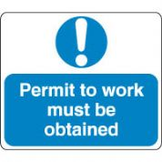Mandatory Safety Sign - Permit To Work Must 121